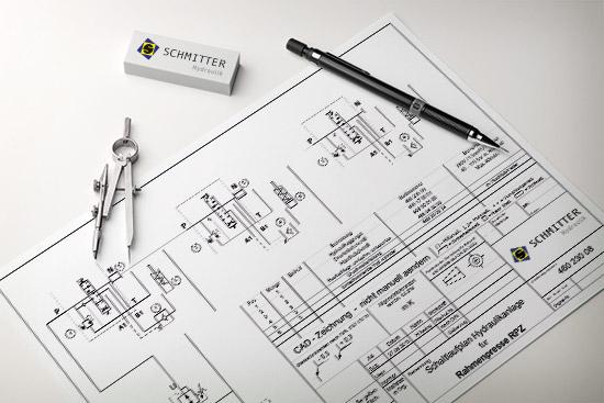 Konstruktion hydraulischer Anlagen Schlauchkonfektionierung