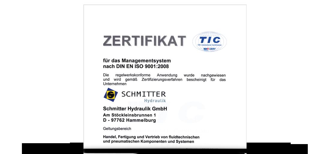 Zertifizierung nach DIN EN ISO 9001:2008 Qualität