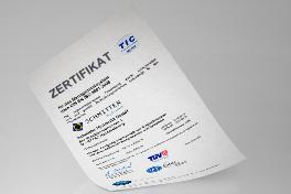 Zertifikat ISO 9001:2008 Deutsch