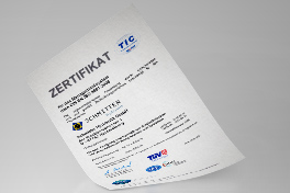 Certificate ISO 9001:2008 German