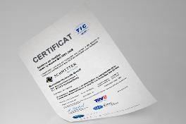 Zertifikat ISO 9001:2008 (Französisch)